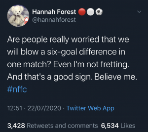 Hannah's Tweet